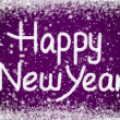 Stock Photo: Happy New Year Message on Purple Snow Background