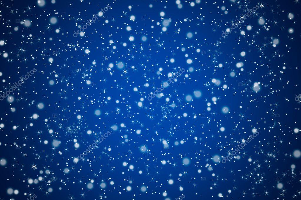 Cielo abbastanza blu notte con stelle e luci di sfondo — Foto Stock ...