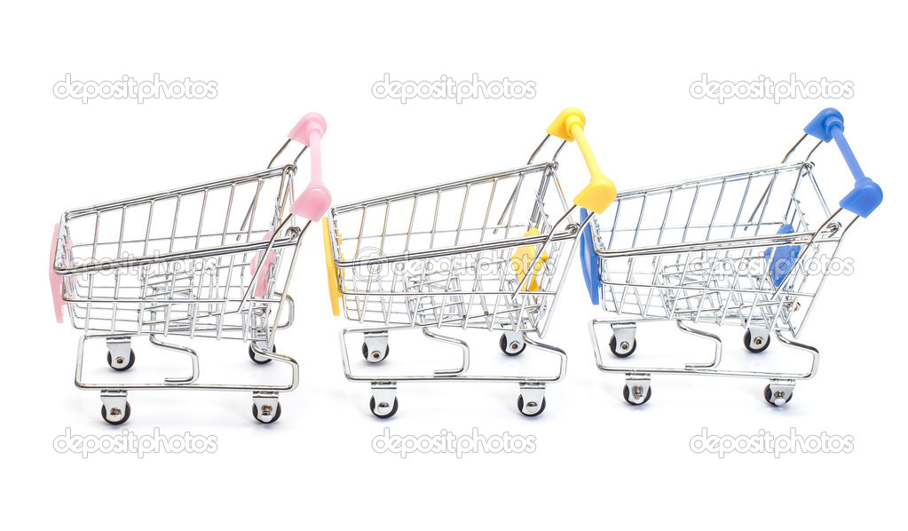 Shopping carts isolated on white background — Stock Photo #10501469