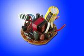 電子回路基板内の異なる要素 — ストック写真