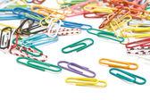 Clipes de papel de escritório colorido — Foto Stock