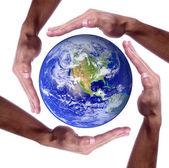 Earth image used courtesy of NASA visible earth — Stock Photo