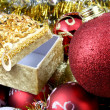 Detail of christmas balls and stars — Stock Photo #8938478