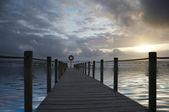 Sunset bridge — Stock Photo
