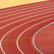 Stock Photo: Track Lanes at the turn