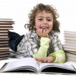 Stock Photo: Kid with books