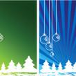 Christmas themes with bulbs — Stock Photo