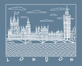 Vector London sketch — Stock Vector