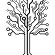 Royalty-Free Stock Vector Image: Vector logo square circuit board tree
