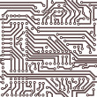 Royalty-Free Stock Imagen vectorial: Vector seamless circuit board pattern