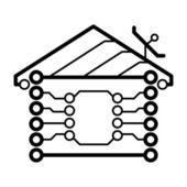 ベクトル電子家のロゴ — ストックベクタ