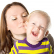 Mother and child in the studio — Stock Photo