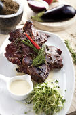 Grilled meat on the plate — Stock Photo