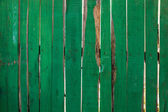 Old painted green wood — Stock Photo