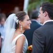Bride and groom just married — Stock Photo