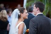 Bruden och brudgummen bara gifta — Stockfoto