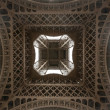 Eiffel tower viewed from underneath — Stockfoto #9060359