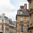 Parisian cityscape of classic architure — Stock Photo