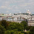 Stock Photo: Sacre Coeur of Montmartre Paris viewed from afar