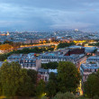 Dusk view over Paris from Eiffel tower — Stock Photo #9060383
