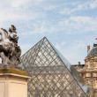 Pyramid of Louvre Museum in Paris — Stock Photo #9060402