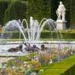 Gardens and fountains at palace versailles — Stock Photo