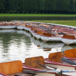 Paddle boats on water in a Paris park — Stock Photo