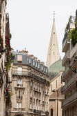 Classic street view of paris buildings — Stock Photo