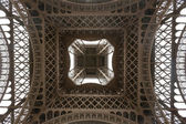 Eiffel tower viewed from underneath — Stock Photo