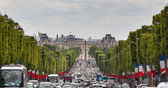 View down the Champs Elysees towards Grand palace — Stock Photo