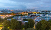 Dusk view over Paris from Eiffel tower — Stock Photo