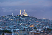 Sacre Coeur viewed from the Eiffel tower — Stock Photo