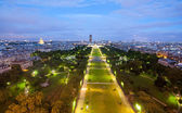 Champs de Mars from the Eiffel tower at night — Stock Photo