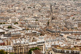 A vast sea of rooftops across a Paris cityscape — Stock Photo