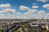 View of Paris from Notre Dame — Stock Photo