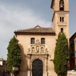 Church of Santa Ana, Granada showing front facade — Stock Photo
