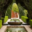 A fountain in the Generalife gardens of the Alhambra palace — Stock Photo #9235012