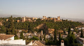 Alhambra palace with Granada in the foreground — Stock Photo