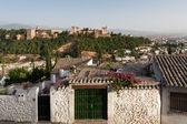 Alhambra palace from the Albaicin — Stock Photo