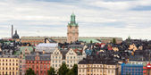 Colorful architecture of Stockholm — Stock Photo