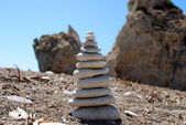 Stone pyramid — Stock Photo