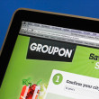 Groupon the coupon website — Stock Photo
