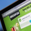 Stock Photo: Groupon coupon website