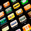 Iphone display with collection of apps — Stock Photo #8795801