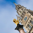 Virgin mary statue in munich — Stock Photo #8796627