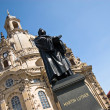Martin Luther and Church Frauenkirche, Dresden — Stock Photo #8796699