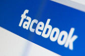 Facebook website — Stock Photo