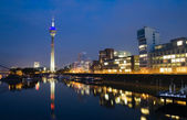 Düsseldorf Media Harbor at Night — Stock Photo