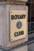 Rotary Club sign — Stock Photo