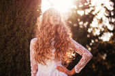 Stunning bridal hair — Stock Photo